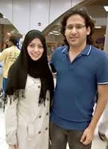 Samar with her husband Waleed before his imprisonment